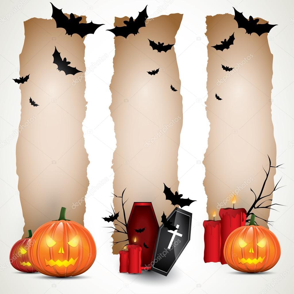 Halloween vertical banners — Stock Vector © kaktus2536 #12105756