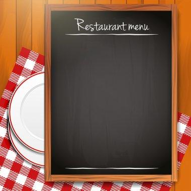 Empty blackboard - Restaurant menu background