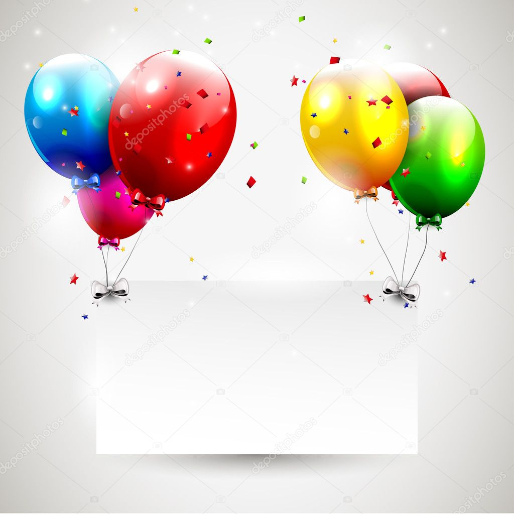 Modern birthday background with place for text