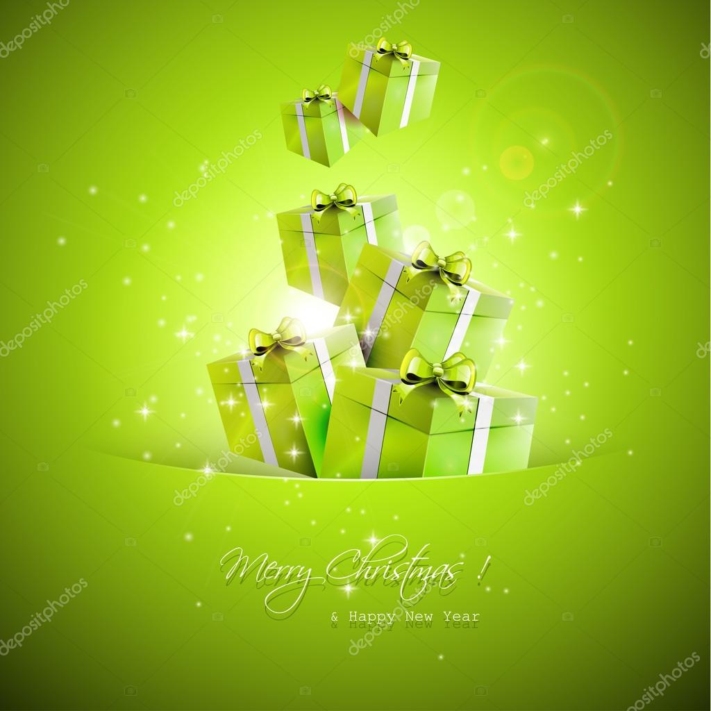 Christmas gifts - vector background