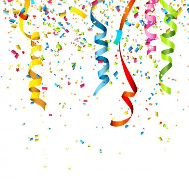 Colorful confetti isolated on white background stock vector