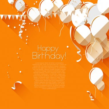 Flat style birthday background