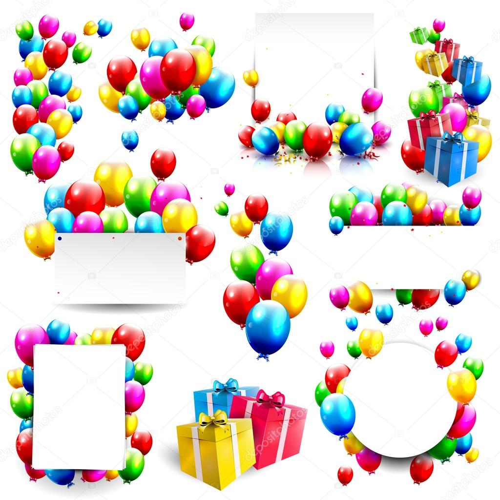 Big vector birthday set