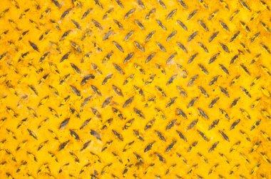 Rusty yellow steel plate