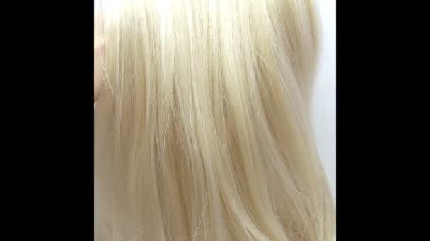 zvýraznění textury vlasů abstraktní pozadí