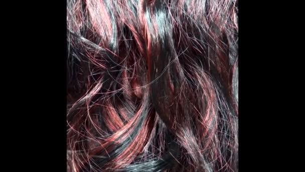 kartáčování zvýraznění tmavé vlasy textury pozadí