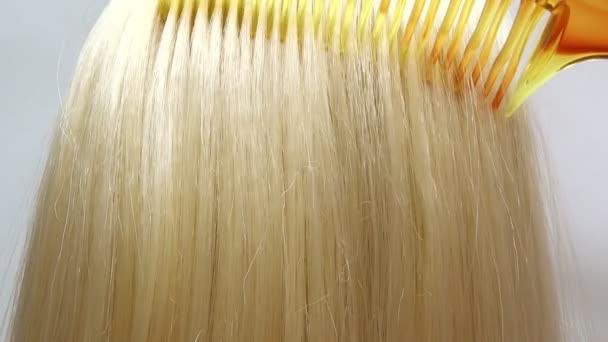 kartáčování zvýraznění blond vlasy textury pozadí