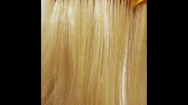 Zvýrazněte blond vlasy textury pozadí