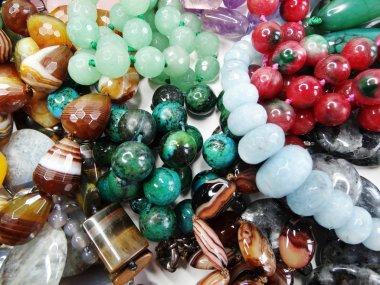 Semigem crystals beads jewellery