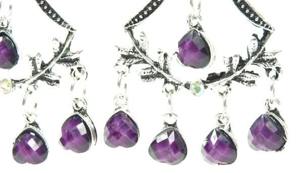 šperky náušnice s jasným krystaly