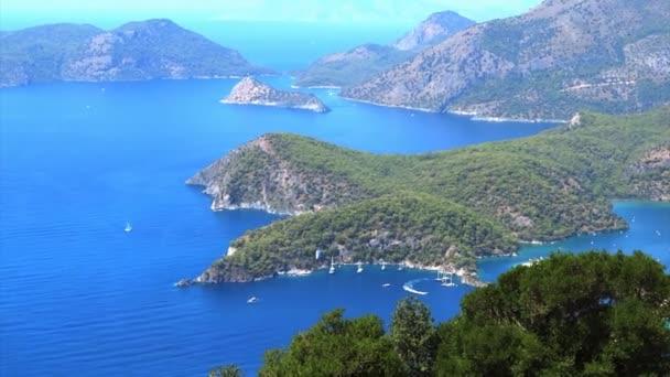 Panorama krajiny pobřeží Středozemního moře Turecko