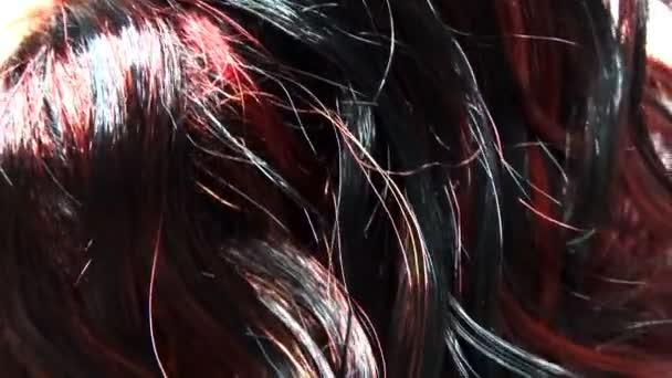 Zvýraznění černé vlasy textury pozadí