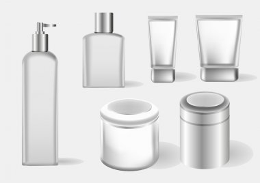 Vector cosmetics containers , packaging