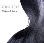 Photo Black Hair Over White