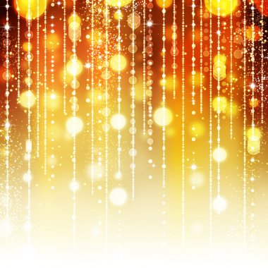 Golden Abstract Holiday background