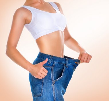 Weight loss. Healthy lifestyles concept