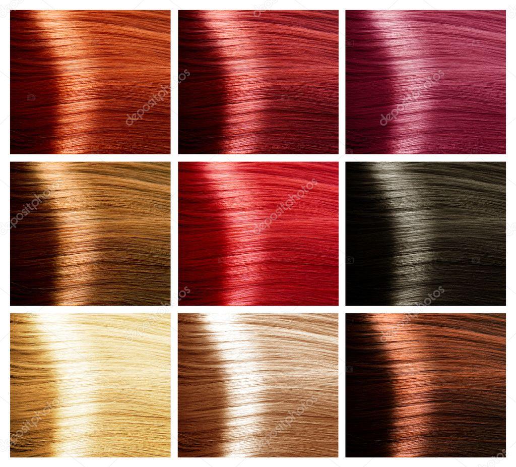 Palette coloration cheveux blond
