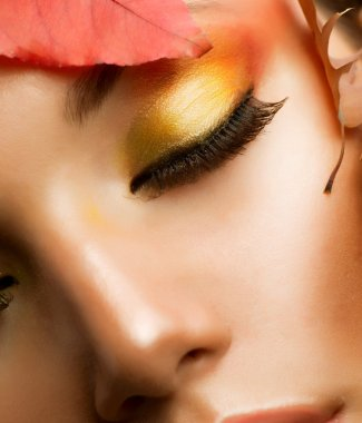 Autumn Makeup. Professional Fall Make-up Closeup