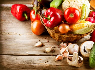 """Картина, постер, плакат, фотообои """"Здоровые органические овощи. Еда"""", артикул 14134368"""