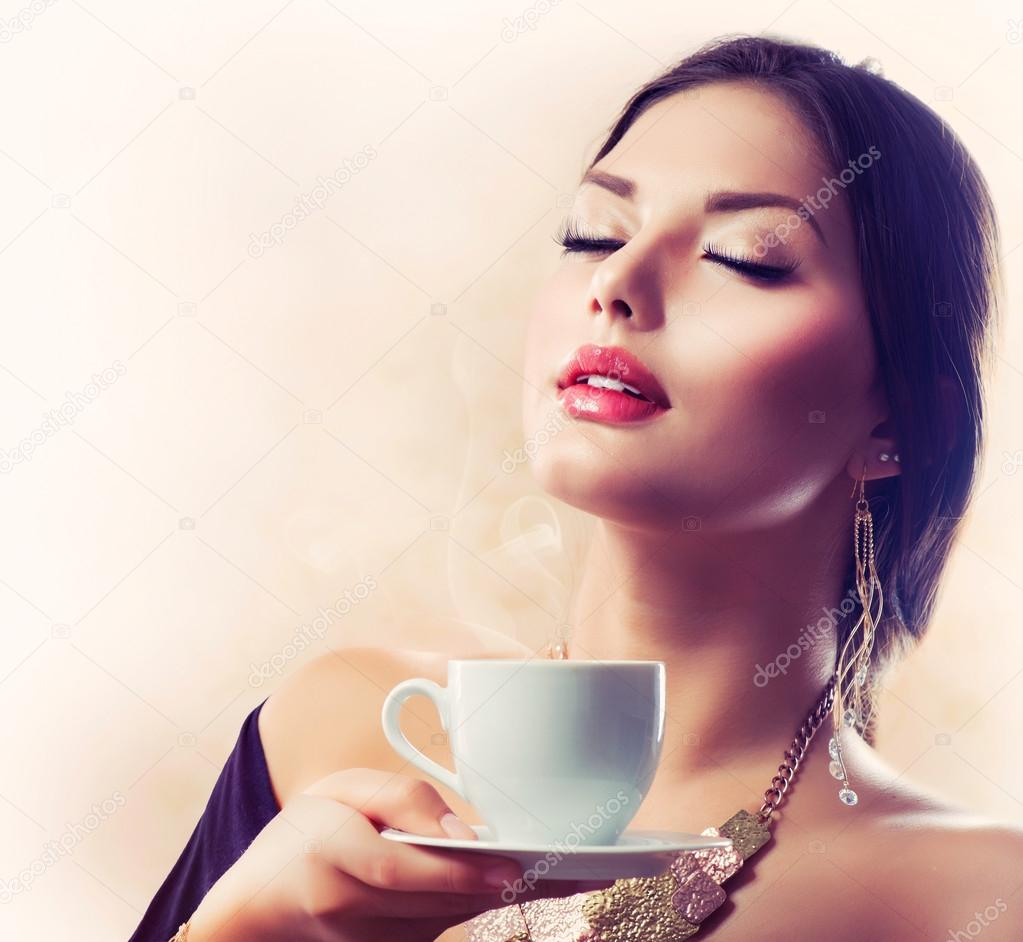 Woman Drinking Tea Images
