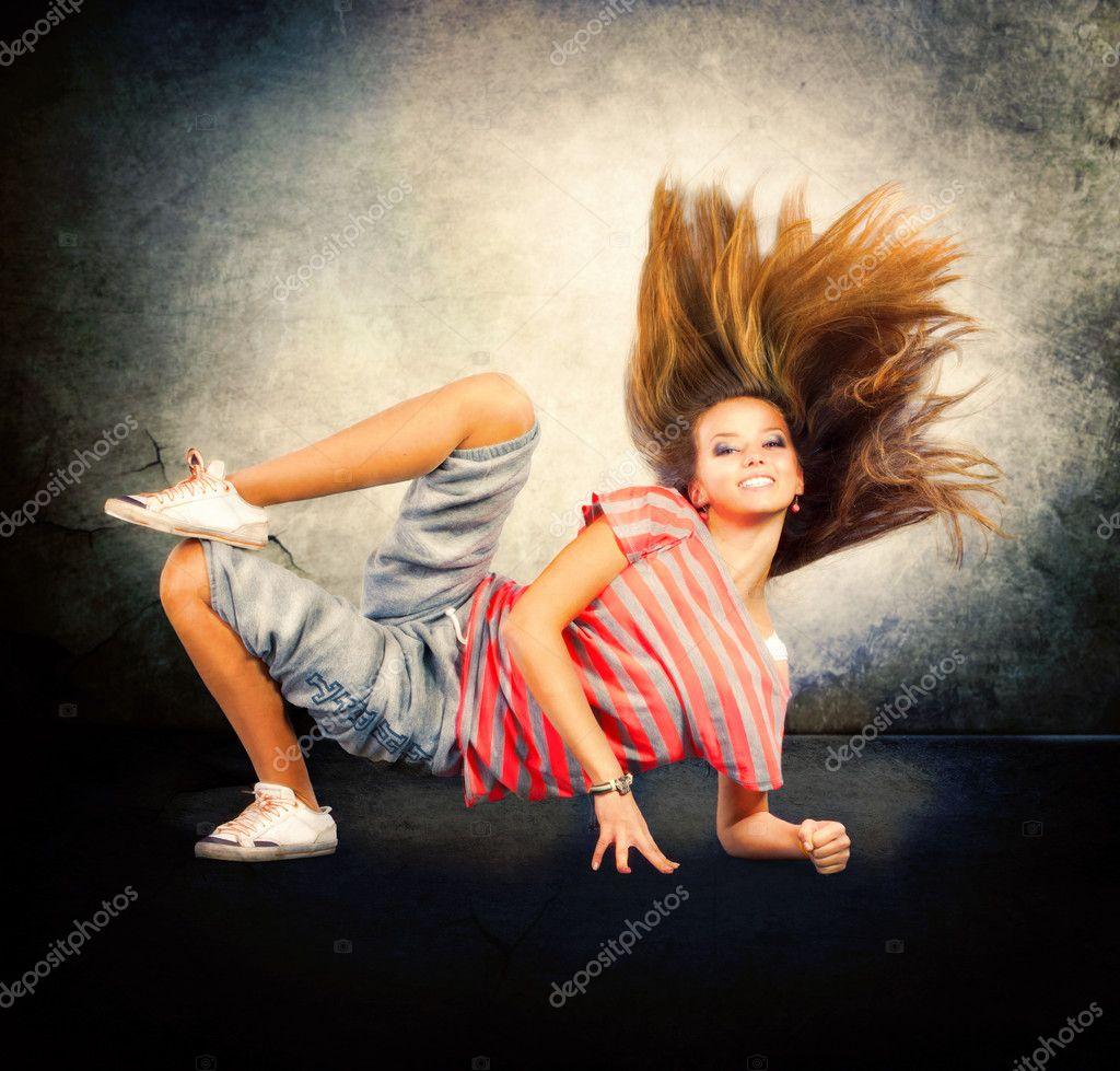 Dance Hip-Hop Dancer Dancing Teenage Girl  Stock Photo -5900