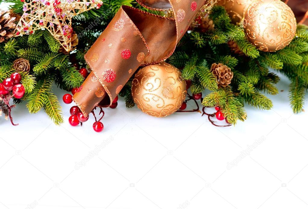 Christmas Decoration Holiday Decorations Isolated on White