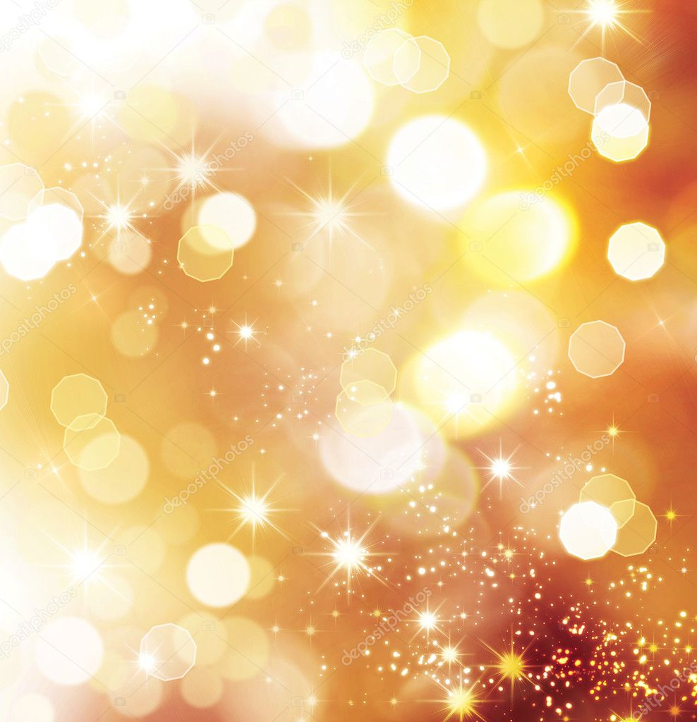 Christmas Holiday Golden Abstract Background