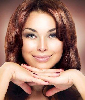 Beauty Woman Portrait. Beautiful Makeup