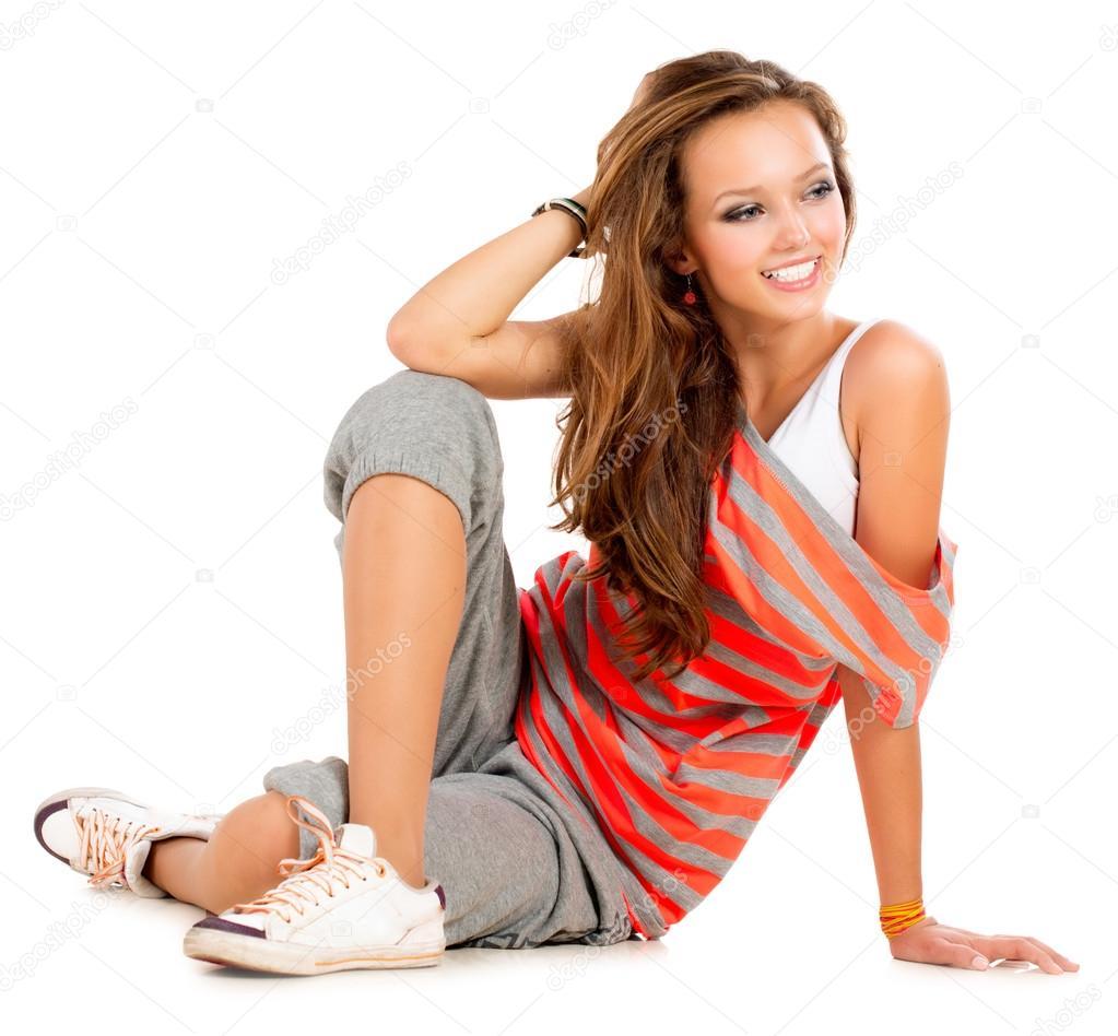 картинки девушка на белом фоне
