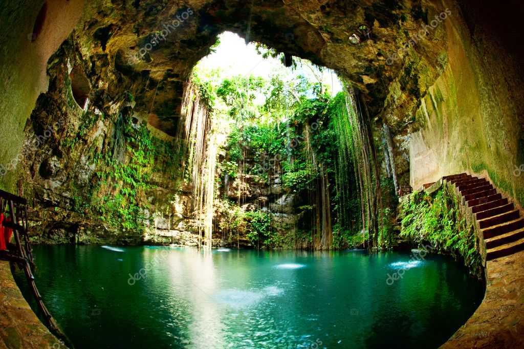 Фотообои Ik-Kil Cenote, Chichen Itza, Mexico