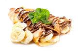 Fotografie Crepes mit Banane und Schokolade