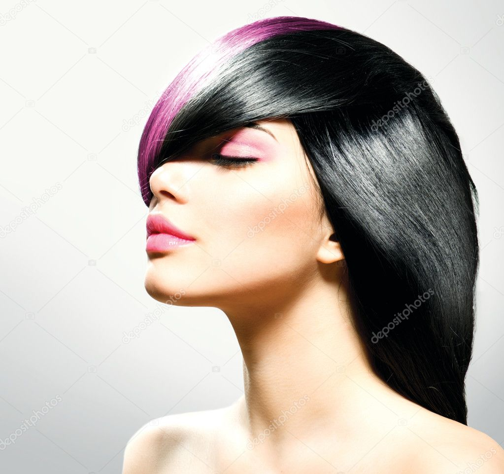 Fashion Hair. Hairstyle