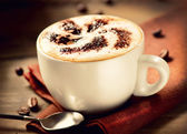 Cappuccino. Cup of Cappuccino Coffee