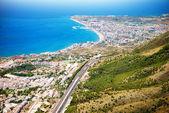 Aerial Panoramic View of Costa del Sol, Benalmadena, Spain