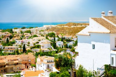 Spanish Landscape. Benalmadena Panoramic View. Malaga, Spain