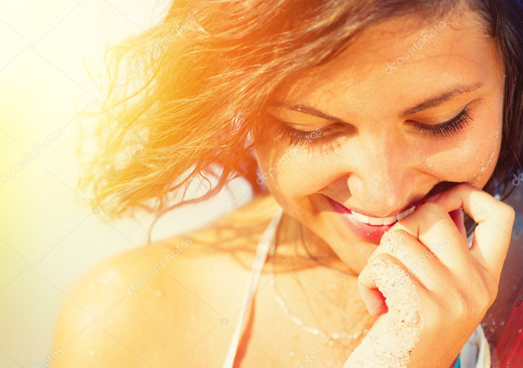 Beauty Sunshine Girl Portrait