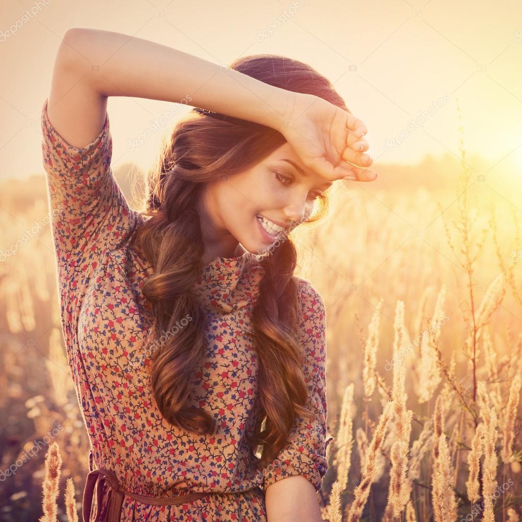 chica rom ntica belleza rom ntica chica al aire libre On modelo de piso al aire libre