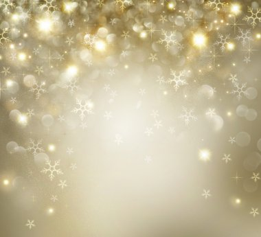Golden Christmas Holiday Background With Blinking Stars stock vector