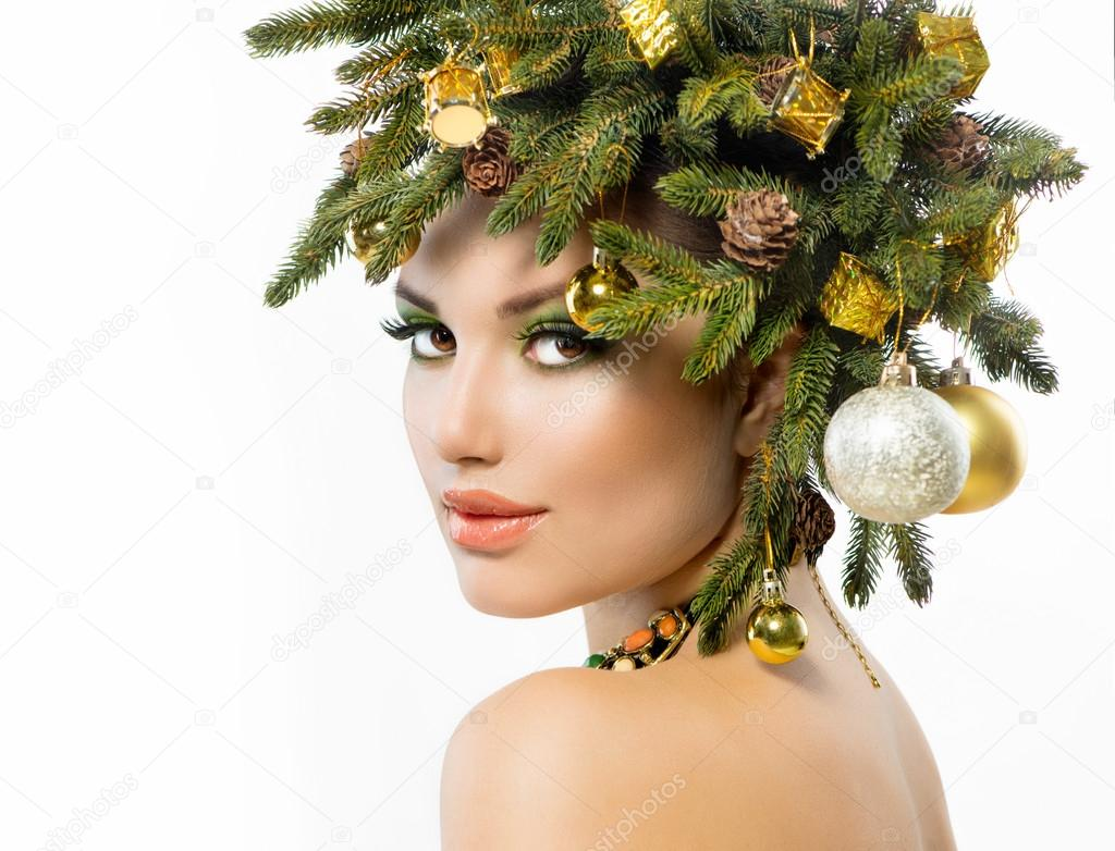 Christmas Hairstyles For Black Girls.Christmas Woman Christmas Holiday Hairstyle And Makeup