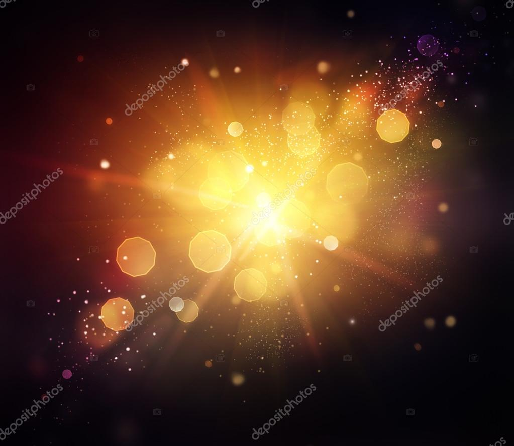 Gold Festive Christmas Background. Golden Abstract Backdrop