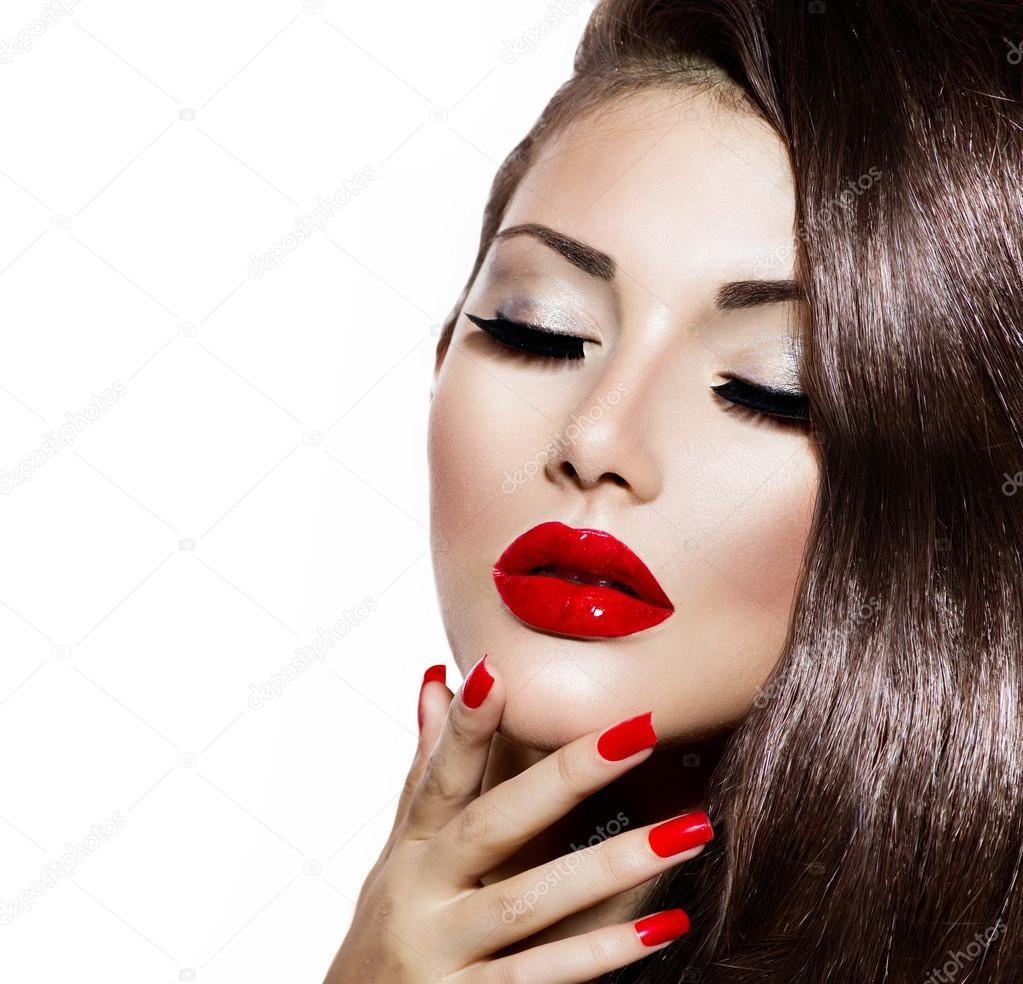 Сексуальная губы красавицы