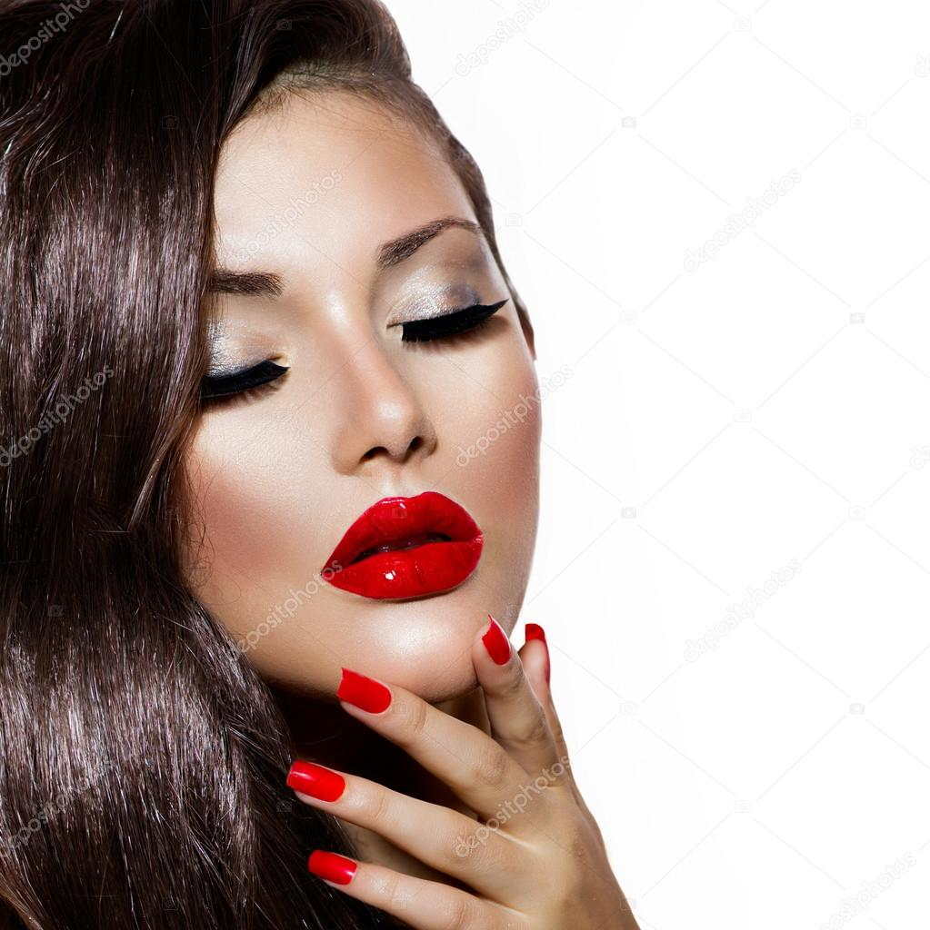 Sexy Makeup Red Lips