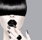 trendi frizura divat modell