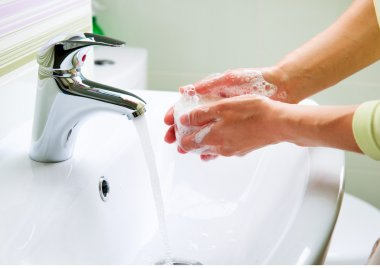Washing Hands with Soap.