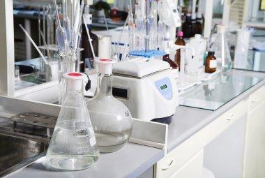 Chemical laboratory background.