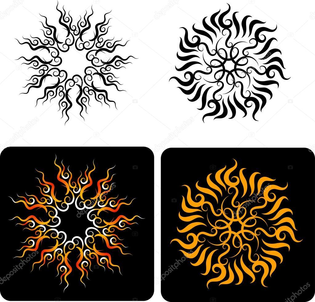 Fleurs Décoratives 4 Image Vectorielle Cundrawan703