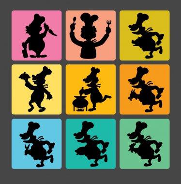 Chef Silhouette Symbols 1