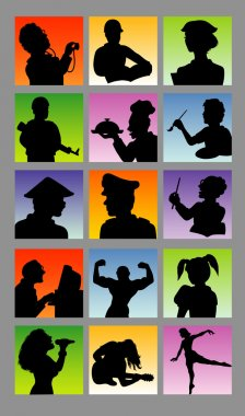 Profession Avatar Silhouettes