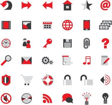 Web site icons big set