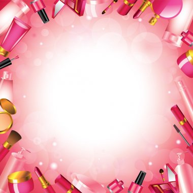 Cosmetics frame vector background